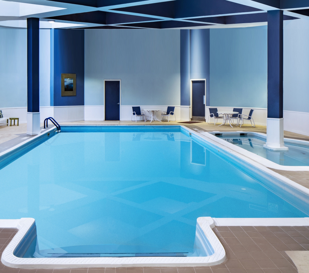 Indoor heated saltwater pool at Somerset Swim & Fitness